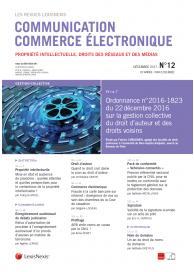 Communication - Commerce électronique (vente au numéro)