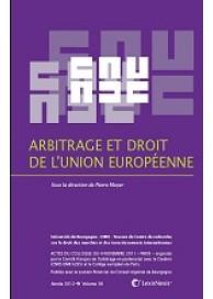 Arbitrage et droit de l' Union européenne