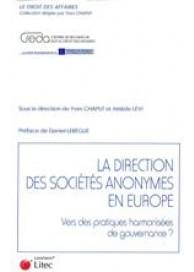 La direction des sociétés anonymes en Europe
