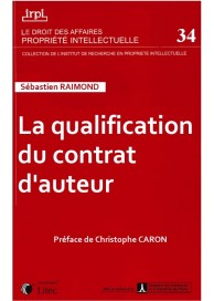 La qualification du contrat d'auteur