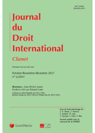 JOURNAL DU DROIT INTERNATIONAL CLUNET