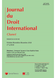 "Journal du droit international ""Clunet"""