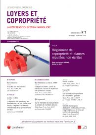 Loyers et copropriété (vente au numéro)