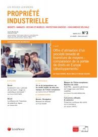 Propriété Industrielle (vente au numéro)