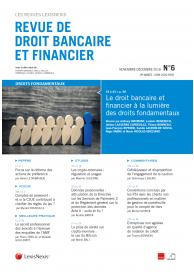 Revue de Droit Bancaire et financier (vente au numéro)