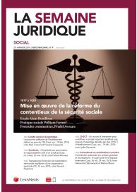 La Semaine Juridique - Social