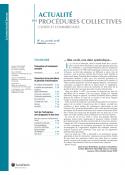 Lettre d'Actualité des Procédures collectives (vente au numéro)