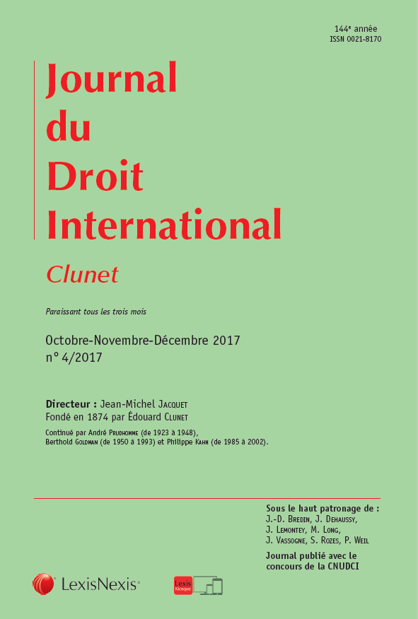 JOURNAL DE DROIT EUROPEEN