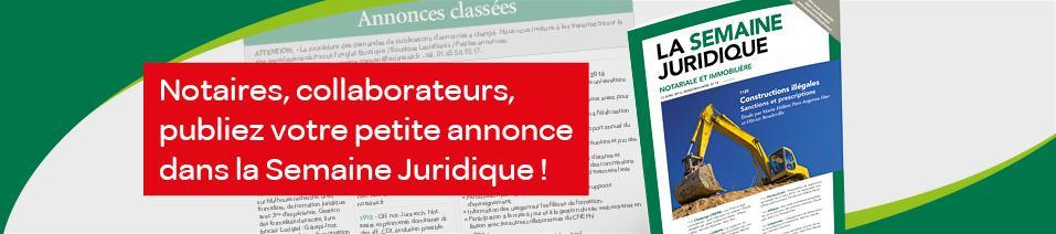 Annonces Classées Notariat