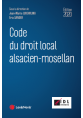 Code du droit local alsacien-mosellan 2020